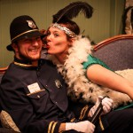 Steve and Tara Brenner, playing characters in a 2013 Dayton murder mystery weekend.