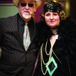 """Chicago's South side mob boss, """"Southside Sal"""" (Mike Paris) and cigarette girl """"Cindy Butt"""" (Debbie Klaudt of Lewiston). (Photo by Nick Page Photography)"""