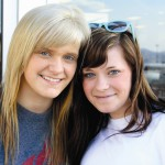 Ashley Rynearson and Kaylan Heighes, of Lewiston