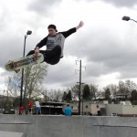 Catching air at Lewiston's Mtn Dew Skatepark which draws skaters from around the region.