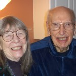 Priscilla Wegars, 73, and Dick Hendricks, 103. Hendricks served as senior clerk at the Kooskia Federal Prison Camp No. 11 at Canyon Creek on the Lochsa River from 1937-1939.