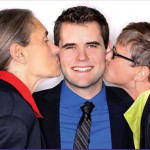 Zach and his two moms.