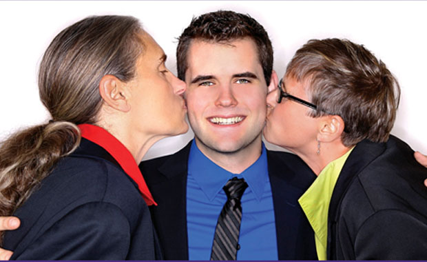 Two moms, one cause: Raised by lesbians, Zach Wahls says parenting is not about sexual orientation but commitment