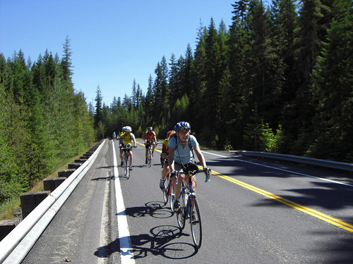 Rolling fast and far: Road cycling is about speed and distance … and flat tires