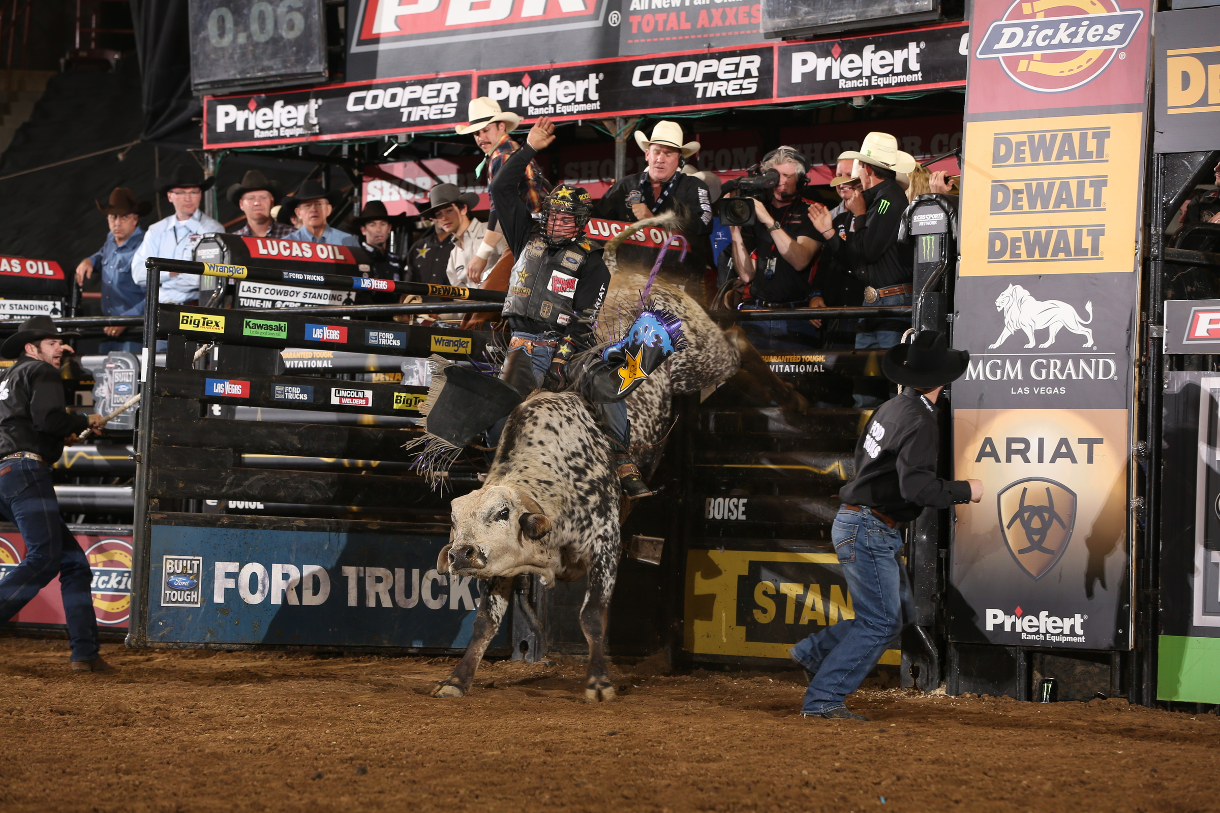 Dancing with bulls: Sixty riders have to out-think their partners for eight seconds