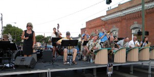 Swing Notes, an 18-piece big band, plays at Clarkston's Alive After Five Sept. 6, 2012.