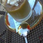 Butterscotch Budino, a cold butterscotch pudding with the crunch of sea salt.