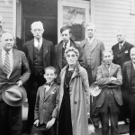 A photo from the 1931 Asotin trial of 12 year-old Herbert Niccolls Jr., at center. (Asotin County Museum)