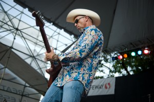 """Tim """"Too Slim"""" Langford performs at the Portland Waterfront Blues Festival, while it celebrated its 25th year."""