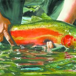 This watercolor painting by Andy Sewell of Viola will be on display at Artisans at the Dahmen Barn in Uniontown.