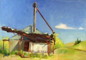 Henry Stinson donated his painting High Noon to the WSU Museum of Art's annual benefit at Living in the Garden.