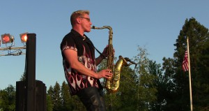 Cliff Miller plays saxophone at Pullman's 2012 Fourth of July celebration. The Fabulous Kingpins will play again this year.