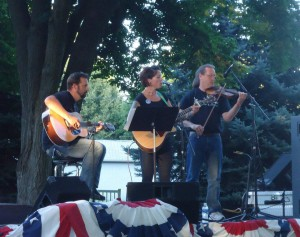 Christopher, Tiana and Paul play at a previous Palouse Music Festival. This year they will play with