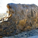 """The bronze sculpture """"Tsceminicum"""" is one of Lewiston's many permanent art works."""