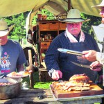 Restored chuck wagons and cowboy cooks will provide Old West grub.