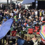 Concert goers at Rocking on the River in Clarkston, soak up the sunshine and suds and the music in 2011.