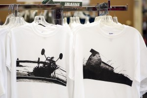 Photo by Geoff Crimmins TriState Outfitters in Moscow sells Palouse photo T-shirts designed by Garth Meyer of Colfax.