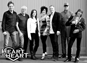 Heart by Heart will perform Saturday in Lewiston. The band, left to right, consists of Andy Baldwin-guitars, Bob Rivers-keyboards, Lizzy Daymont-bass guitar, vocals and guitars, Somar Macek-lead vocals, Steve Fossen-bass, Mike Derosier-drums and Randy Hansen-guitars.