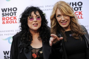 "Associated Press Ann Wilson, left, and Nancy Wilson of the band Heart pose together at the ""Who Shot Rock and Roll"" photo exhibition opening at the Annenberg Space for Photography on Thursday June 21, 2012 in Los Angeles."