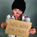 A Candy Beggar may wrangle more candy than your ordinary trick-or-treater.