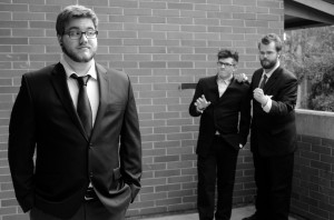 Left to right, Cameron Overturf, Joe Seguin, Jonathan O'Guin are members of the Nuthouse improv comedy troupe at Washington State University.