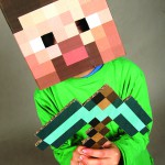 There are lots of free templates online that can be printed to make a MInecraft costume.