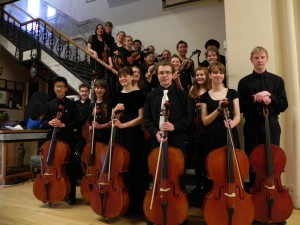 Last year's Greater Palouse Youth Orchestra poses before a concert. The group, grades 9 through 12, rehearse Thursdays and perform with the Cantabile String Ensemble 7:30 p.m. Saturday.