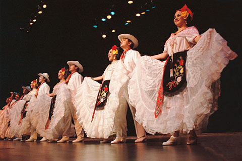 "Ballet Folklorica ""Quetzalli"" de Veracruz performs traditional Mexican dances, such as ""La Bamba."" The dancing troupe performs 7 p.m. Sunday in the Beasley Coliseum, and will put on an educational production Monday for elementary school students in the area."