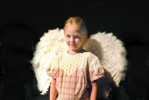 "Sophie Smith is a member of the baby angel choir in the Lewiston Civic Theater production of ""The Best Christmas Pageant Ever."""