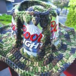 Camo melds with beer in this redneck hat.