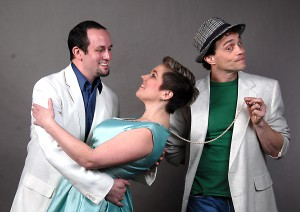 Jacob Trickey, Kelly Riddle, and Jeff Karlin with be acting in the Lewiston Civic Theater production of  Dirty Rotten Scoundrels playing Lawrence Jameson, Christine Colgate, and Freddy Benson.