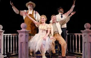 "Cast members of the Nebraska Theatre Caravan perform ""The Fantasticks."""