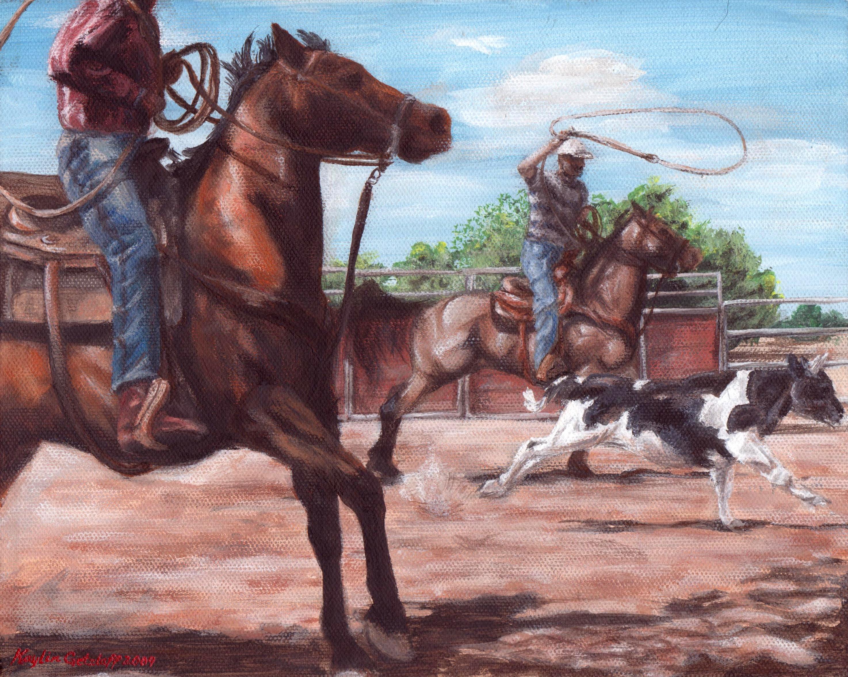 Kaylin colors colts: WSU veterinary medicine student shares equine art