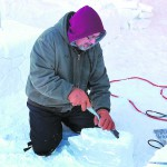 Cascade artist Jeffrey Weston is a champion ice carver who returns to the carnival each year.