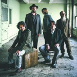 Drive-By Truckers are from L to R: Jay Gonzalez, Patterson Hood, Matt Patton, Mike Cooley, Brad Morgan.