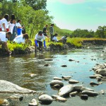 Lapwai Elementary students study water at Spalding Park in 2012.