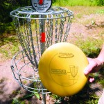 The objective of disc golf is to get your disc in the basic in the least amount of throws possible.