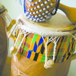 Navin Chettri's West African drums. Chettri will be participating in a Ghanaian drumming and dance workshop and performance at the UI.