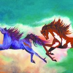 """""""Chasing Thunder"""" by Jan Kirchhhoff, one of the featured artists at this year's Palouse Art Walk."""