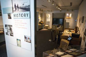 Clipped History Display at Terrell Library