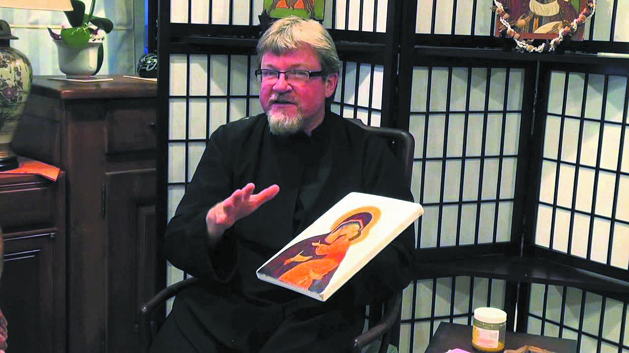 Holy iconographer Higgins returns to monastery