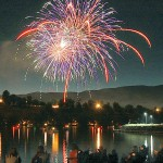 Fireworks light up the night time sky over the Lewiston-Clarkston Valley during July 4 celebrations in 2008.