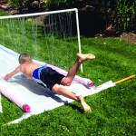 A homemade water slide can be more durable and fun than one bought at the store.