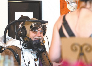 Steam-powered people took to the streets and shoveled their faces during a Steampunk Progressive Dinner and Ball in Lewiston. Lewiston Tribune photographer Steve Hanks was there to take pictures.
