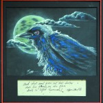 """""""Nevermore"""" by Paul Fuson, charcoal & chalk, $300"""