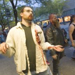 Walking with your hands out in front of you will expose you as an imposter to most zombies.