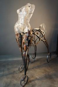 jenfuller_centaur, a collaborative piece with Portland steel artist, Steve Tilden