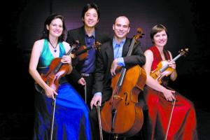 Members of the Jupiter Quartet are (from left) Liz Freivogel, Nelson Lee, Daniel McDonough and Meg Freivogel.