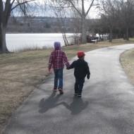 Presidents' Day walk along the Clarkston levee