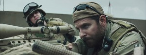 "Bradley Cooper as US Navy SEAL, Chris Kyle in the Oscar-nominated film ""American Sniper."""